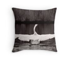 White and Wide Throw Pillow