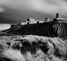 Sunset at Bamburgh Castle, Northumberland by strangelight