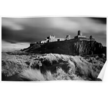 Sunset at Bamburgh Castle, Northumberland Poster