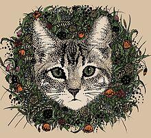 meadow god lion cat by heiheneikko