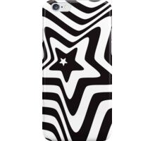black and white star illusion background iPhone Case/Skin