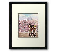 Atop Wall Rose Framed Print