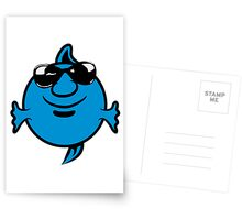 funny happy sunglasses Puffer Postcards
