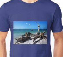 Tree Stump Beach Unisex T-Shirt