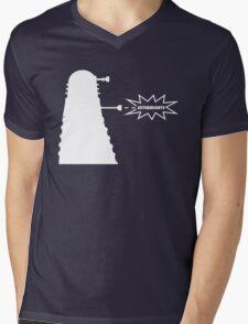Exterminate (white) Mens V-Neck T-Shirt