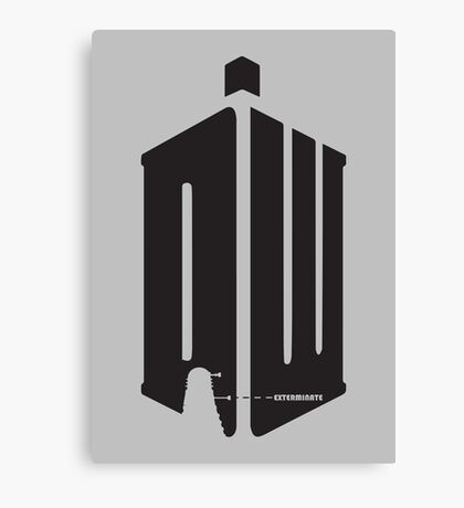 Dalek (exterminate) Canvas Print