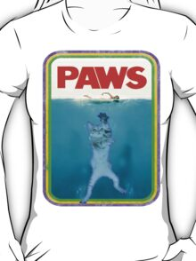 Jaws (PAWS) Movie parody T Shirt T-Shirt