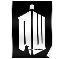 Dalek (exterminate/white) Poster