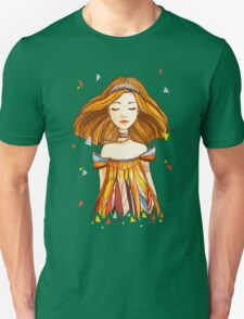 Girl in feather dress T-Shirt