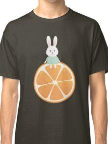 Cute bunny on orange Classic T-Shirt