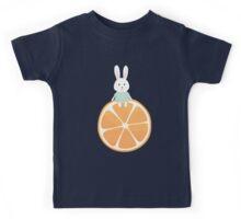Cute bunny on orange Kids Tee