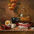 still life with bacon by dusanvukovic