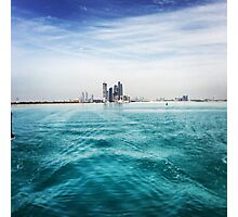Abu Dhabi Skyline From Sea Photographic Print