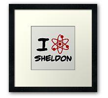 I love sheldon Framed Print