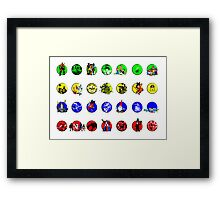 Cartoon Twister Framed Print