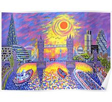 Sunset-Pool of London Poster
