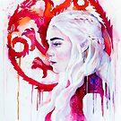 Daenerys Targaryen - game of thrones 4 by Slaveika Aladjova