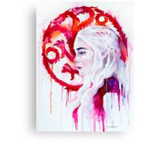 Daenerys Targaryen - game of thrones 4 Canvas Print