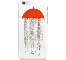 love umbrella iPhone Case/Skin