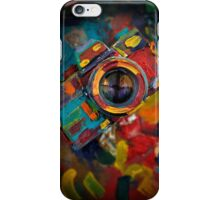 oil paint retro camera iPhone Case/Skin