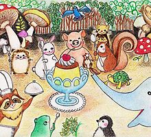 Animal Party in the Deep Forest by Marysue128