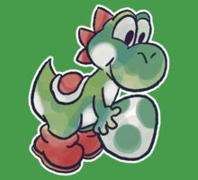 Yoshi holding an Egg Kids Clothes