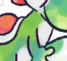 Yoshi holding an Egg Sticker