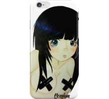 Touch but don't look iPhone Case/Skin