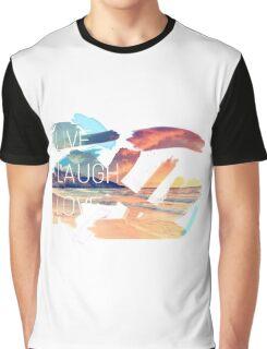 Live Laugh Love Sunset Graphic T-Shirt