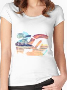 Live Laugh Love Sunset Women's Fitted Scoop T-Shirt