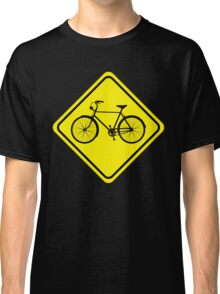Cyclist Warning Sign v1 Classic T-Shirt