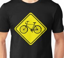 Cyclist Warning Sign v1 Unisex T-Shirt