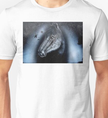 old horse in snow Unisex T-Shirt
