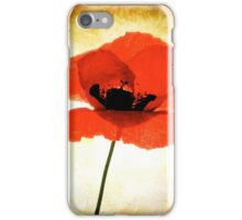 poppy flower iPhone Case/Skin