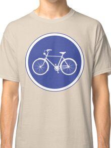 Cyclist Warning Sign v2 Classic T-Shirt