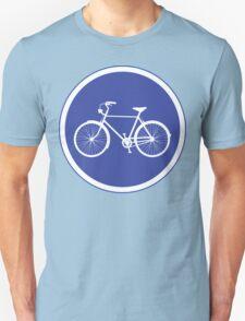 Cyclist Warning Sign v2 T-Shirt