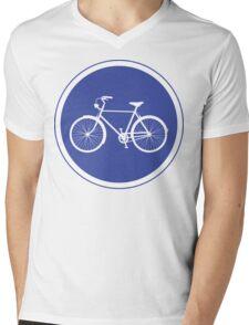 Cyclist Warning Sign v2 Mens V-Neck T-Shirt