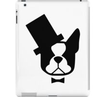 Boston Terrier - American Gentleman - Boston with a bow tie and top hat iPad Case/Skin