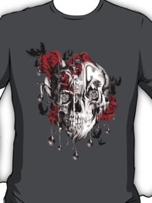 Melt down, grunge rose skull T-Shirt