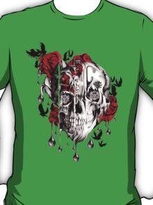 Melt down, grunge rose skull T-Shirt