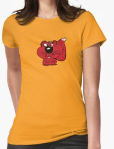 Sammy, the Red Irish Squirrel  Womens Fitted T-Shirt