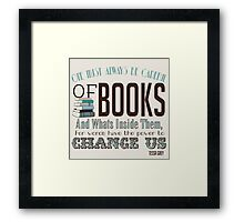 Words.. Framed Print