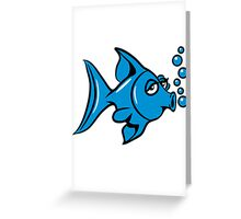 blow fish Greeting Card