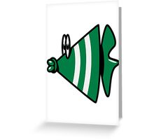 Funny fish Aquarium Greeting Card