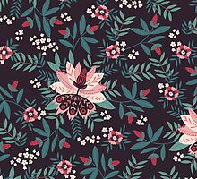 Botanical Garden Floral Fabric by sale