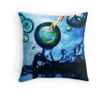 A Drop In The Ocean, Is It Too Late? Throw Pillow