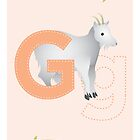 G is for Goat (Uppercase) by Haley Luden