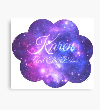 Karen and The Babes (Starry Font) Canvas Print