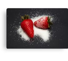 Strawberry with Sugar Canvas Print