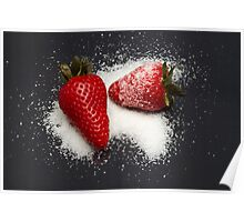 Strawberry with Sugar Poster